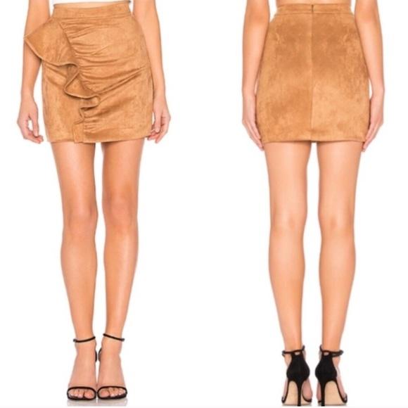MAJORELLE Dresses & Skirts - Majorelle Revolve 'Samara' Faux Suede Mini Skirt